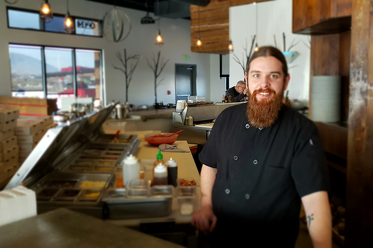 Talon Jager, the longtime manager at Stick + Stone Neopolitan Wood-Fired Pizza on Queensgate Drive in Richland, is the new owner. Jager knew he wanted to be a chef growing up in his family's Burger Factory restaurants in Othello and Connell. Mike Miller and the other restaurant founders recently sold the business. (Photo by Wendy Culverwell)
