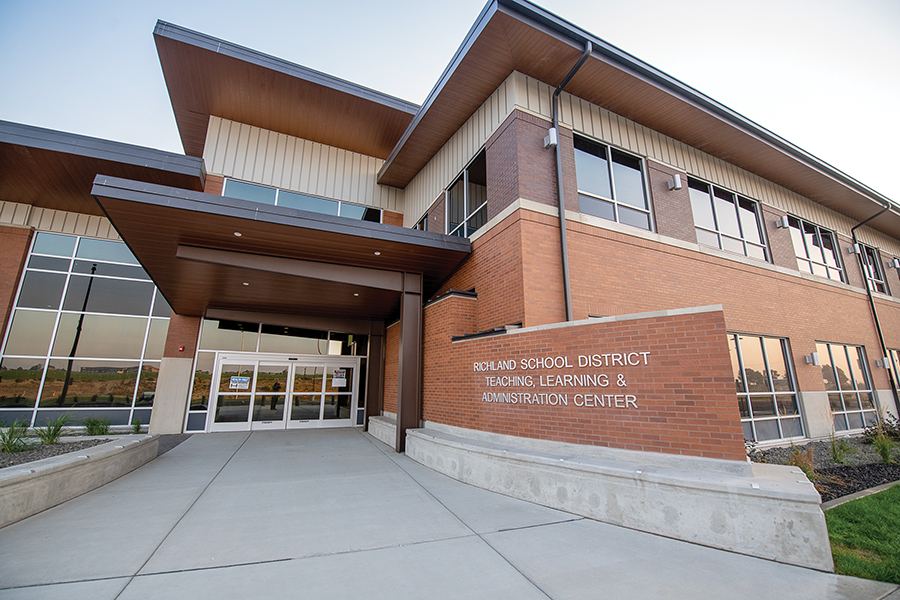 Richland School District Teaching, Learning  & Administration Center, 6972 Keene Road, West Richland. (Photo by Scott Butner Photography)