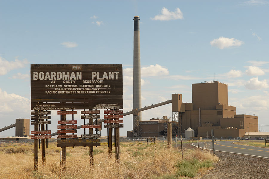 Portland General Electric Company permanently shuttered its Boardman Generating Station in Eastern Oregon's Morrow County this fall. Boardman was the only coal-fired power plant in Oregon. (Courtesy PGE)